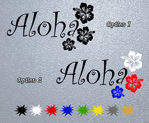 Aloha Hawaiian Greeting Sticker (x1)