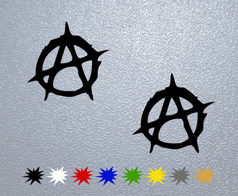 Anarchy Logo Sticker (x2)