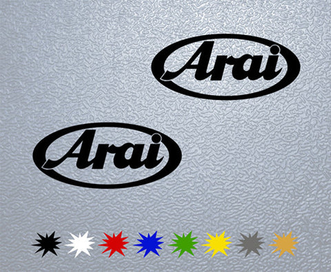 Arai Helmet Sticker (x2)