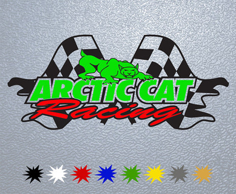 Arctic Cat Racing Sticker (x1)