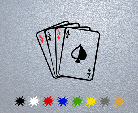 Aces Poker Sticker (x1)