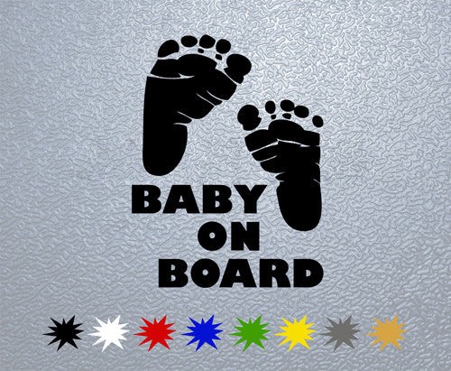 Baby On Board #1 Sticker (x1)