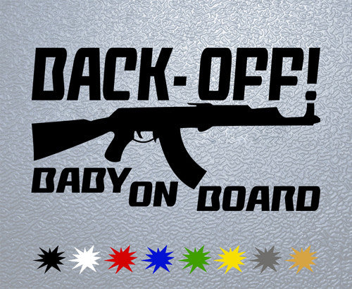 Back-Off! Baby on Board Sticker