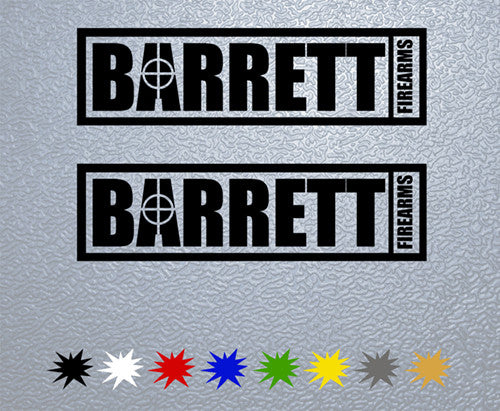 Barrett Firearms Logo Sticker