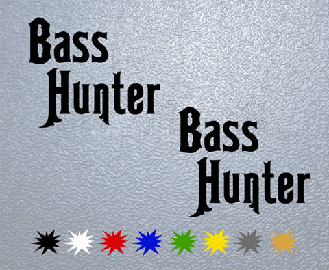 Bass Hunter Sticker (x2)