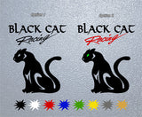 Black Cat Racing Sticker