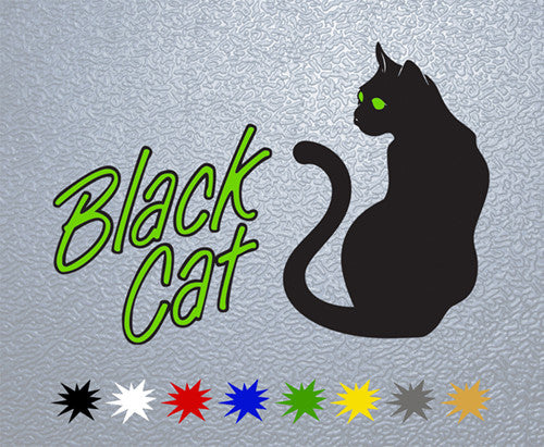 Black Cat Music Logo Sticker