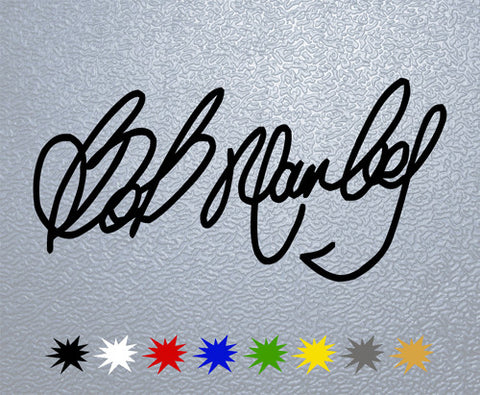 Bob Marley Signature Sticker (x1)