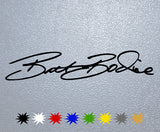 Brett Bodine Signature Sticker