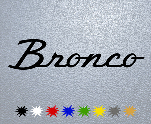Ford Bronco Logo Sticker