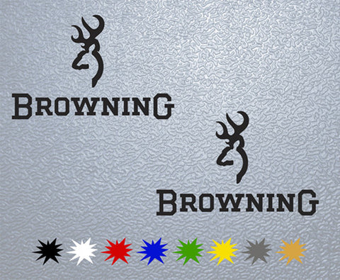Browning Sticker (x2)