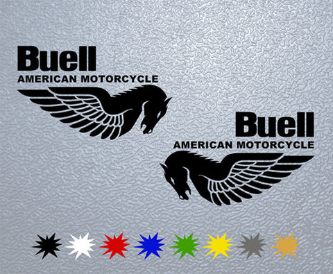 Buell American Motorcycle Sticker (Set)