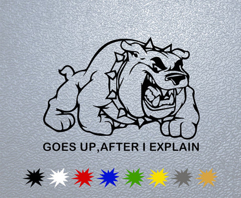 Buldog-Goes up,after I explain Sticker (x1)