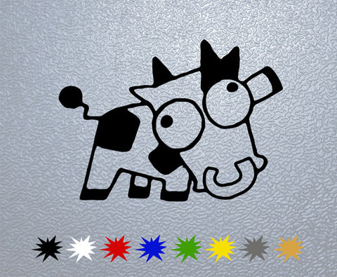 Crazy Cow Sticker (x1)