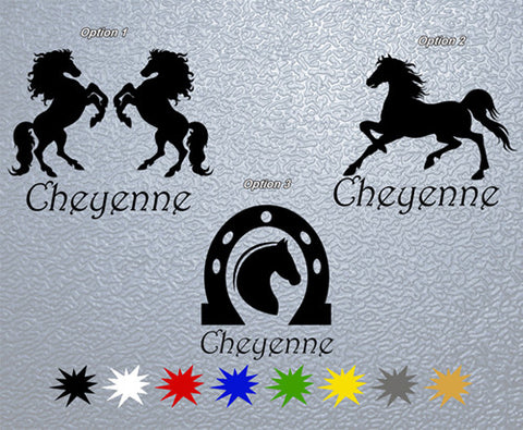 Personalized Horse Name Sticker (x1)