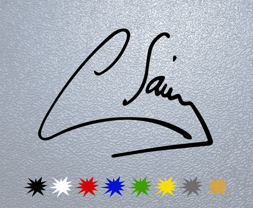 Carlos Sainz Signature Sticker