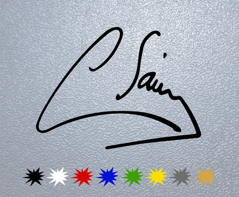 Carlos Sainz Signature Sticker (x1)