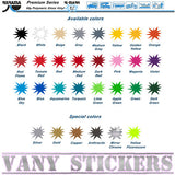 Color Chart VanyStickers