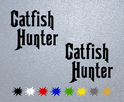 Catfish Hunter Sticker (x2)