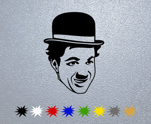 Charlie Chaplin Face Sticker (x1)