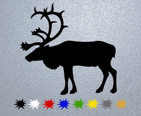 Deer Silhouette Sticker (x1)