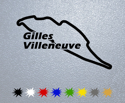 Circuit Gilles Villeneuve Sticker (x2)
