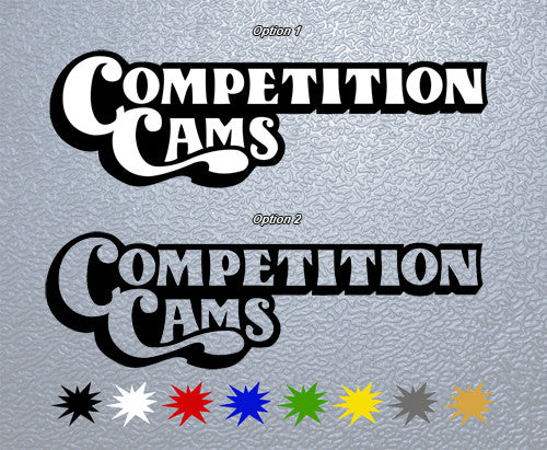 Competition Cams Retro Logo Sticker