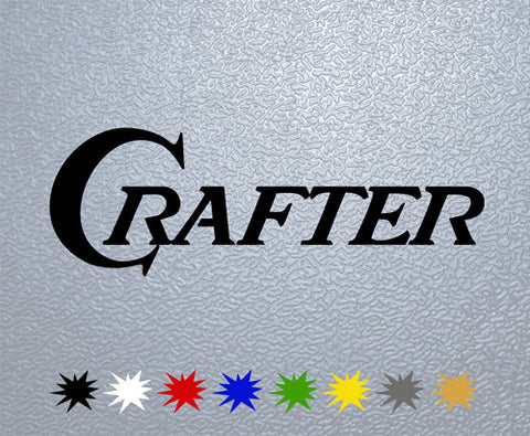 Crafter Guitars Logo Sticker (x1)