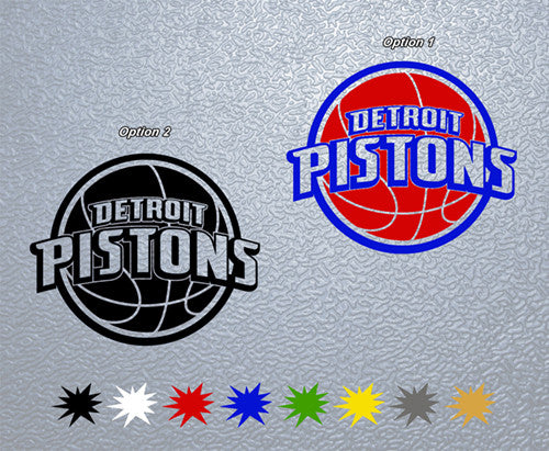 Detroit Pistons Logo Sticker