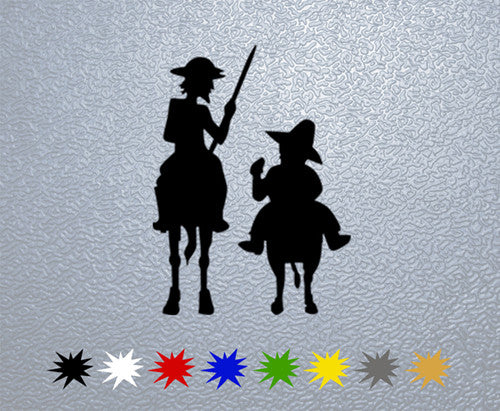 Don Quijote and Sancho Sticker