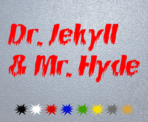 Dr.Jekyll & Mr.Hyde Sticker (x1)