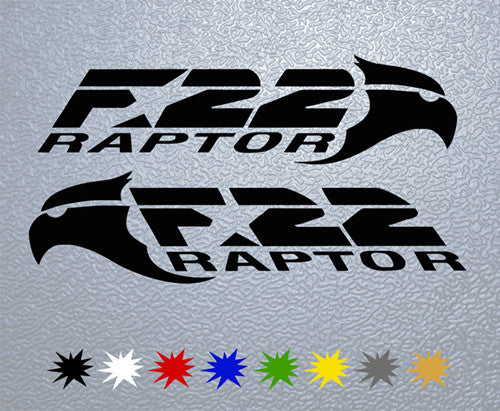 F22 Raptor Logo Sticker