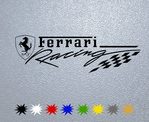 Ferrari Racing Logo Sticker