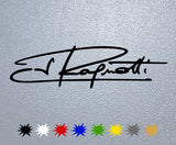 Jean Ragnotti Signature Sticker