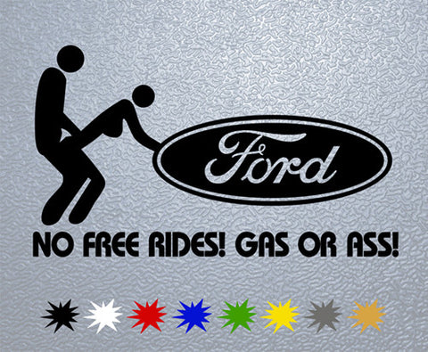 Ford Gas Or Ass Sticker (x1)