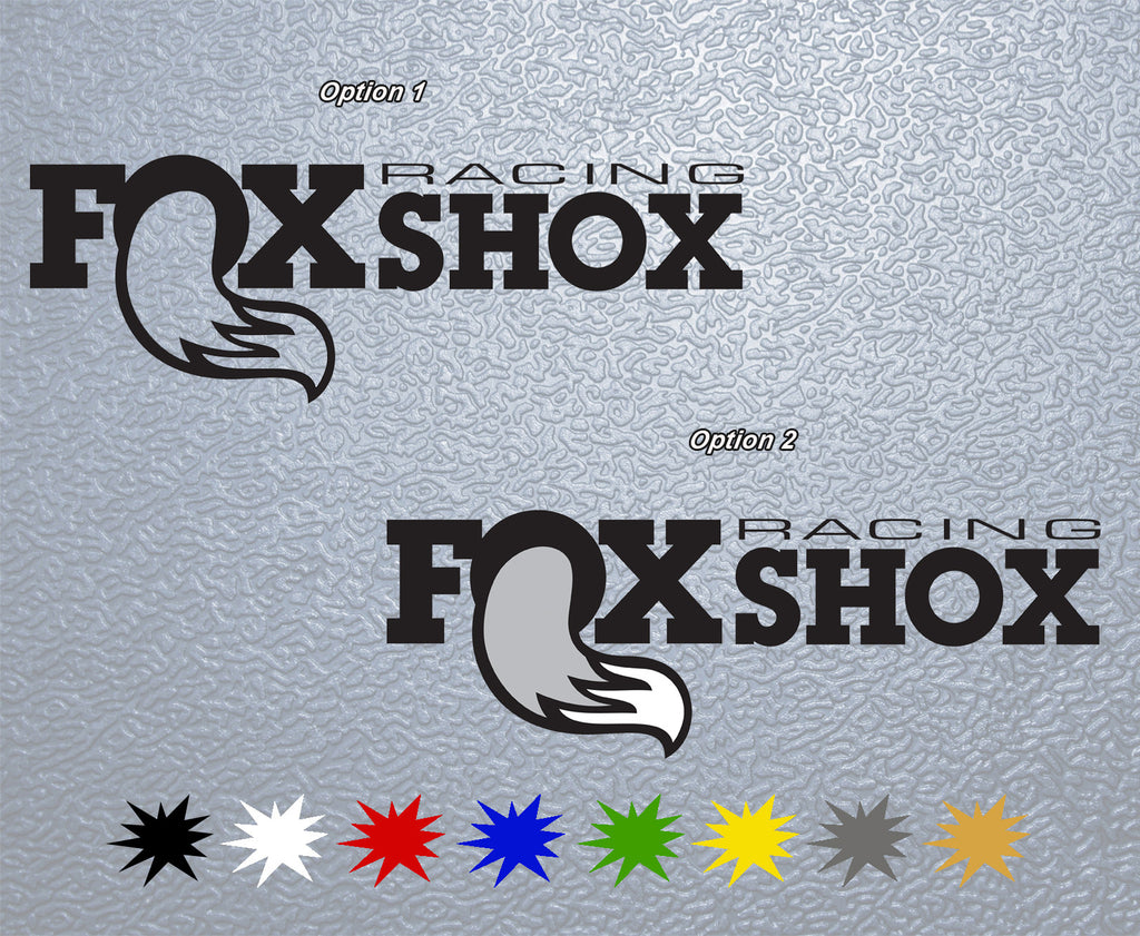 Fox Racing Shox #2 Logo Sticker
