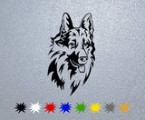 German Shepherd Head #1 Sticker