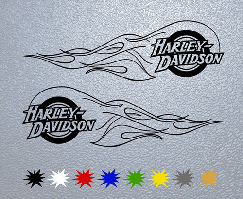 Harley Davidson Flames Sticker