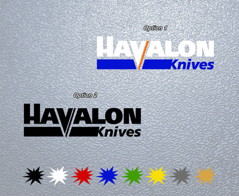 Havalon Knives Sticker (x2)
