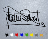 Jackie Stewart Signature Sticker