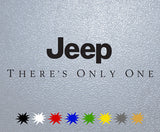 Jeep Theres Only One Logo Sticker