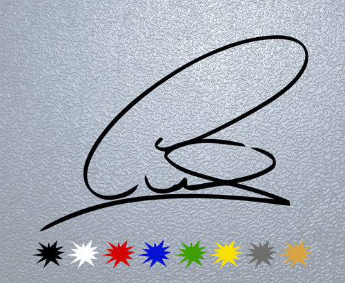 Lewis Hamilton Signature Sticker