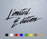 Limited Edition Logo Sticker