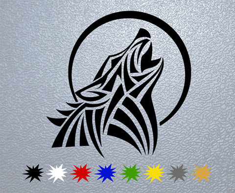 Tribal Wolf  Sticker (x1)