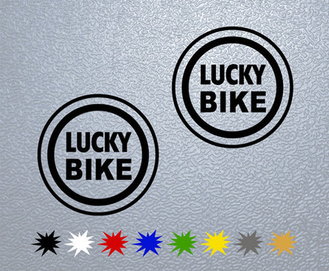 Lucky Bike Sticker (x2)