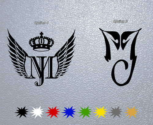 MJ Michael Jackson Insignia Sticker