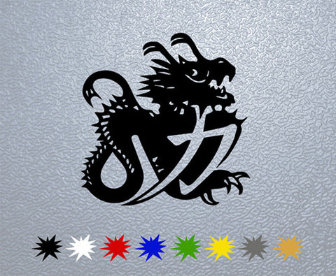 Chinese Dragon Helmet Michael Schumacher Sticker (x1)