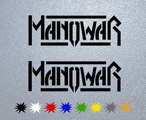 Manowar Logo #1 Sticker