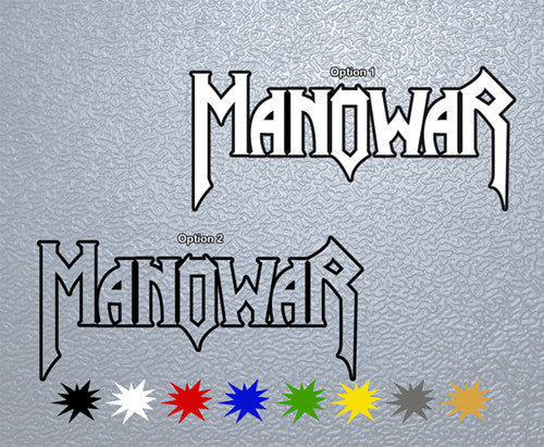 Manowar Logo#4 Sticker