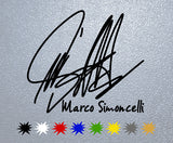 Marco Simoncelli Signature Sticker
